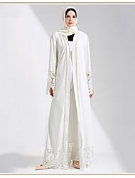 cheap -Adults' Women's Lace Ethnic Arabian Dress Abaya Kaftan Dress For Halloween Daily Wear Festival Lace Elastane Polyster Patchwork Lace Long Length Dress 1 Belt