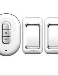 cheap -Silver Gold Pretty Doorbell Wireless Two to One Doorbell Music Ding dong Non-visual doorbell Surface Mounted ABS+PC