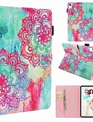 cheap -Case For Apple iPad Mini 5 / iPad New Air(2019) / iPad Air Wallet / Card Holder / Shockproof Full Body Cases Flower Hard PU Leather / iPad Pro 10.5 / iPad (2017)