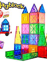 Недорогие -Attop Магнитный конструктор Магнитные плитки 218 pcs Креатив Геометрический узор Градиент цвета Все Мальчики Девочки Игрушки Подарок