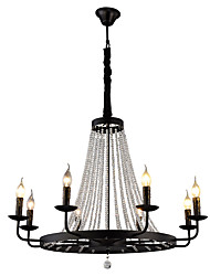 cheap -QINGMING® 8-Light 80 cm Crystal / Mini Style Chandelier Metal Mini Painted Finishes Retro / Country 110-120V / 220-240V