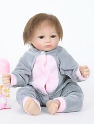 cheap -FeelWind Reborn Doll Girl Doll Baby Girl 18 inch Silicone Vinyl - lifelike Handmade Cute Child Safe Kids / Teen Non Toxic Kid's Unisex / Girls' Toy Gift