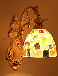 cheap -Creative Retro / Vintage Wall Lamps & Sconces Bedroom / Indoor Resin Wall Light 220-240V 40 W