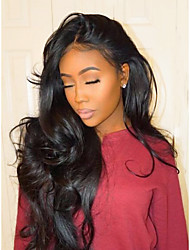 cheap -Human Hair Unprocessed Human Hair Glueless Lace Front Lace Front Wig style Brazilian Hair Body Wave Wig 130% 150% 180% Density 22-28 inch with Baby Hair Natural Hairline African American Wig 100