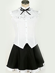 cheap -Inspired by Cosplay Cosplay Anime Cosplay Costumes Japanese Cosplay Suits Black & White Contemporary Cravat Shirt Top For Men's Women's / Skirt / Socks / More Accessories / Hair Band / Skirt