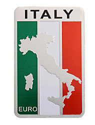cheap -Pair 8x5cm Aluminum Italy Flag Map Badge Car Sticker Emblem Decal Decoration