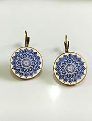cheap -Women's Stud Earrings Retro Flower Simple Earrings Jewelry Gold / Silver For Birthday Going out 1 Pair