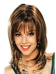 cheap -Costume Accessories Straight With Bangs Wig Short Brown Synthetic Hair 42 inch Women's Women Brown