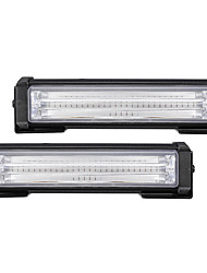 cheap -2Pcs 40W Front Grille COB LED Emergency Light Flashing Warning Strobe Lamp 12-24V