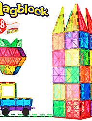 Недорогие -Магнитный конструктор Магнитные плитки 128 pcs Креатив Геометрический узор Градиент цвета Все Мальчики Девочки Игрушки Подарок
