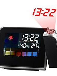 cheap -Digital LCD Screen Weather Station Forecast Calendar Projector Snooze Alarm Clock