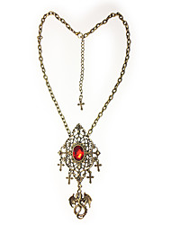 cheap -Vampire Dracula Pendant Necklace Cross Gothic Steampunk Artificial Gemstones Alloy For Party Birthday Masquerade Men and Women Costume Jewelry Fashion Jewelry / 1 Necklace / 1PC Pendant