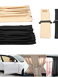 cheap -2pcs 70cm Mesh L Auto Rear Valance UV Sunshade Drape Visor Car Window Curtain
