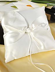 cheap -Silk Like Satin Satin Bow Satin Ring Pillow Wedding All Seasons