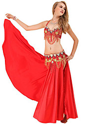 cheap -Belly Dance Skirt Paillette Women's Training Performance Sleeveless Dropped Polyester