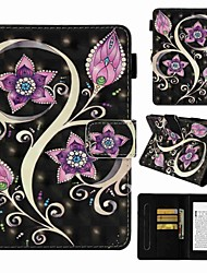 cheap -Case For Amazon Kindle PaperWhite 4 Card Holder / Shockproof / Pattern Full Body Cases Flower Hard PU Leather