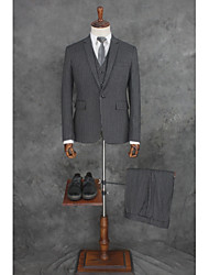 cheap -Striped Tailored Fit Cotton / Polyester Suit - Slim Peak Single Breasted One-button / Suits
