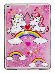 cheap -Case For Apple iPad Air / iPad (2018) / iPad Air 2 Flowing Liquid / Pattern Back Cover Unicorn / Glitter Shine Hard PC / iPad (2017)