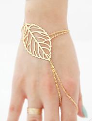 cheap -Women's Ring Bracelet / Slave bracelet Hollow Leaf Stylish Simple European Alloy Bracelet Jewelry Gold / Silver For Daily