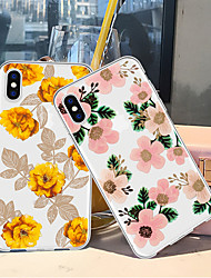 cheap -Case For Apple iPhone XS / iPhone XR / iPhone XS Max Pattern Back Cover Plants / Flower Soft TPU