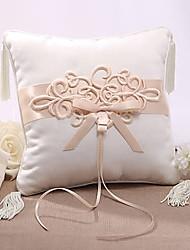 cheap -Silk Like Satin Tassel / Appliques Satin Ring Pillow Wedding All Seasons