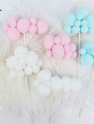 cheap -Cake Topper Classic Theme / Holiday / Wedding Artistic / Retro / Unique Design Fabrics Party / Birthday with Splicing 1 pcs OPP