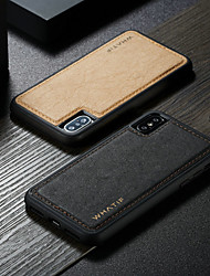 cheap -Case For Apple iPhone XS / iPhone XR / iPhone XS Max DIY Back Cover Solid Colored Hard PU Leather