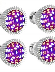 cheap -4pcs Full Spectrum Led Grow light Bulb E27/GU10/E14 28leds Grow Plant Light for Hydroponics Greenhouse Organic AC85-265V
