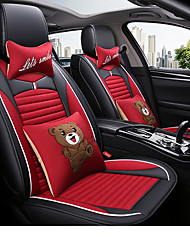 cheap -Car Seat Covers Headrest & Waist Cushion Kits Gray / Red / Blue Other Leather Type Cartoon For GM All years
