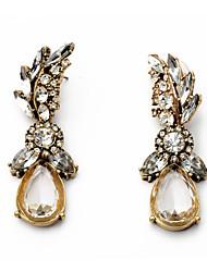 cheap -Women's Drop Earrings Chandelier Trendy Sweet Imitation Diamond Earrings Jewelry Brass For Street Going out 1 Pair