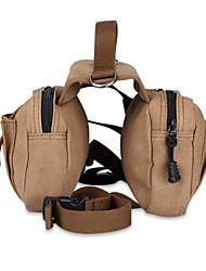 cheap -Dog Carrier Bag & Travel Backpack Dog Backpack Dog Saddle Bag Multi layer Adjustable Flexible Pet Fabric Solid Colored Khaki