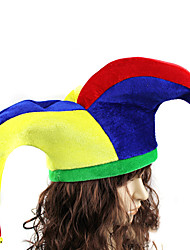 cheap -Burlesque Clown Hat Adults' Men's Funny & Reluctant Halloween Halloween Carnival Masquerade Festival / Holiday Plush Alloy Red / Yellow / Blue Carnival Costumes Color Block