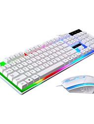 Недорогие -LITBest G21 USB Проводной Мышь Клавиатура Комбо Градиент цвета Механическая клавиатура / Игровые клавиатуры Светящийся Gaming Mouse 1600 dpi