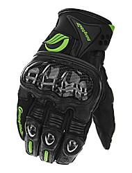 cheap -Touch Screen Carbon Fiber Sheepskin Gloves Motorcycle Racing Full Finger Glove