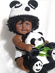 cheap -20 inch Black Dolls Reborn Doll Baby Boy African Doll lifelike Cute Kids / Teen Silica Gel with Clothes and Accessories for Girls' Birthday and Festival Gifts