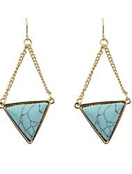 cheap -Women's Drop Earrings Geometrical Earrings Jewelry Blue For Daily Office & Career 1 Pair