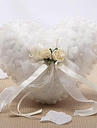 cheap -Satin / Tulle Imitation Pearl / Floral Silk Ring Pillow Wedding All Seasons