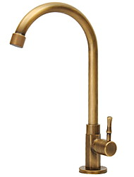 cheap -Kitchen faucet - Single Handle One Hole Cooper Electroplated Standard Spout / Tall / ­High Arc Ordinary Kitchen Taps / Brass