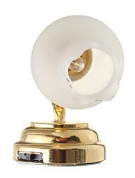 Недорогие -1:12 мини металлическое стекло светодиодный цветок ночник миниатюрный светильник новинка для детей кукольный домик поделки игрушка свадебный подарок домашний декор
