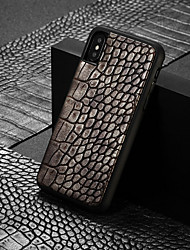 cheap -Case For Apple iPhone XS / iPhone XR / iPhone XS Max Pattern Back Cover Solid Colored Hard PU Leather