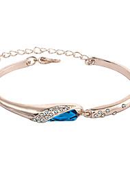 cheap -Women's Bracelet Bangles Classic European Romantic Rhinestone Bracelet Jewelry Silver / Blue / Rose Gold For Daily