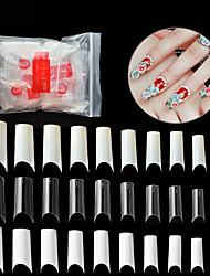 cheap -500pcs PVC(PolyVinyl Chloride) False Nails Best Quality New Stylish Unique Design Daily Artificial Nail Tips for Finger Nail / Romantic Series