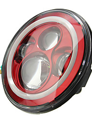 cheap -7inch 6000K LED Hi-Lo Beam Headlight Halo Angle Eyes White DRL Red Turn Light For Jeep Wrangler