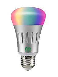 Недорогие -ywxlight®1pcs домашнее освещение применимо к google assistant / ifttt e27 7w RGB с регулируемой яркостью светодиодных wifi умных лампочек управление смартфоном