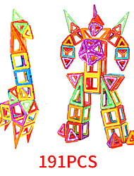 Недорогие -Магнитный конструктор Магнитные плитки 191 pcs Геометрический узор Все Мальчики Девочки Игрушки Подарок