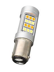 cheap -1157 BAY15D Dual Color 42SMD 2835-42-SMD Bulb 20W 600Lm Car Turn Signal light