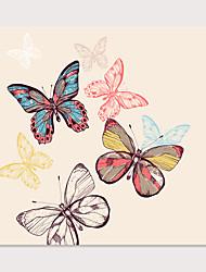 cheap -Print Stretched Canvas Prints - Animals Butterly Theme Modern Art Prints