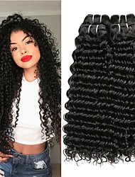 cheap -6 Bundles Brazilian Hair Deep Wave Human Hair Unprocessed Human Hair Gifts Cosplay Suits Headpiece 8-28 inch Natural Color Human Hair Weaves Soft Best Quality Hot Sale Human Hair Extensions