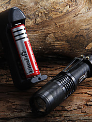 cheap -LED Flashlights / Torch Waterproof 1600 lm LED 1 Emitters Waterproof Adjustable Focus Camping / Hiking / Caving Everyday Use Cycling / Bike / Aluminum Alloy