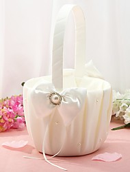 "cheap -Flower Basket Others 8 3/5"" (22 cm) Rhinestone / Imitation Pearl / Satin Bow 1 pcs"